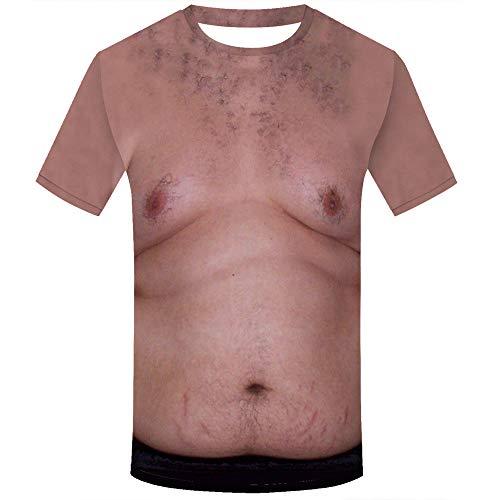 LLonGao Unisex Urlaub Shirt Unhöflich Stag Party Fancy Dress 3D Offensive Boobs Gedruckt Tee Printed Funny Tops Regular Fit Tshirts