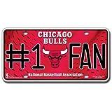 NBA # 1Fan en métal Auto Tag