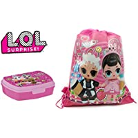 LOL surprise Fiambrera + LOL Bolsa de Deporte o Bolsa de Piscina LOL