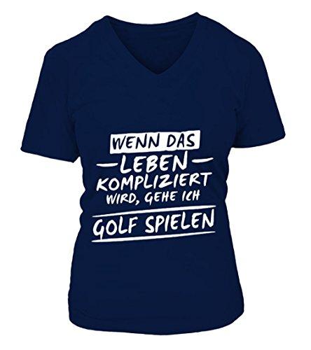 teezily Gehe Ich Golf Spielen T-Shirt Frauen (T-shirt Golf Spielen Ich)