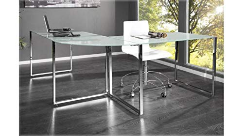 Bureau design verre Boss blanc