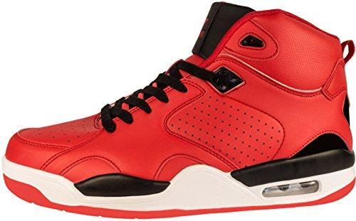Unbekannt, Scarpe Basket uomo Rot (Rot/Schwarz)