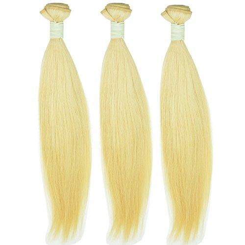 Noble Reine vierge Cheveux Blonds droite européenne Cheveux Lots 10 A 613 Blond Remy Cheveux humains tissage trames de double 30,5 cm à 76,2 cm 3 pcs Beaucoup