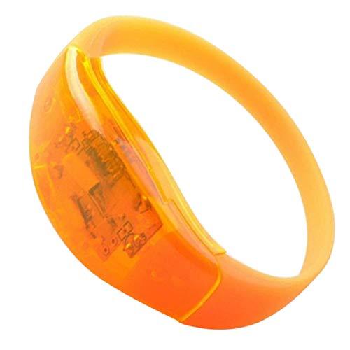 MRLIFY Strap Arm Band LED Flashing Strap, Sprachsteuerung Armband Up Dance Party Glow Geschenk Multi Farben leuchten Tanzparty