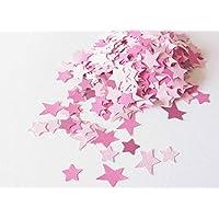 Confeti - papel en forma de estrella - 18,5 g - color rosa (totalmente artesanal)