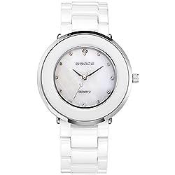Stylish ceramic watch/Couple watch/Daily waterproof quartz watches-B