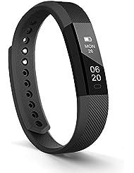 Fitness Armband Lintelek fitness tracker Sport Uhr Smart Bracelet Benachrichtigung Anrufe Push Message Smartwatch Schrittzähler Schlafmonitor Aktivitätstracker für Android und iOS