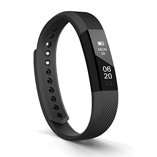 Fitness armband Lintelek Fitness Tracker Uhr, schlanke Touchscreen und Armbänder, Tragbar Spritzwasser geschützt Aktivität Tracker Schrittzähler