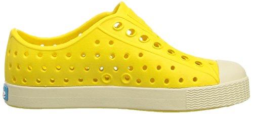 Native Shoes Jefferson Child, Espadrilles mixte enfant jaune (crayon yellow/bone white)