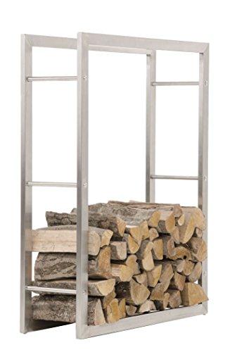 *CLP Edelstahl Kaminholzregal / Kaminholzständer KERI, bis zu 8 Größen wählbar 25 x 80 x 100 cm*