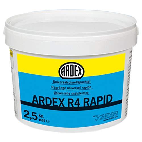 ARDEX R4 RAPID Universal-Schnellspachtel 2,5kg Eimer mit ARDURAPID®-Effekt. Weißzement-Basis. Standfester Reparaturspachtel mit Finish-Charakter.
