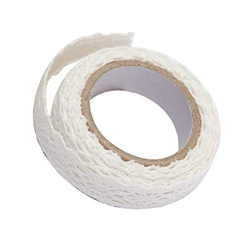 DDG EDMMSdentelle ruban de colle décorative, 1 rouleau ruban auto-adhésif de bricolage, bande de dentelle, ruban garni, un processus de décoration de la bande de tissu de coton, de 18 mm de larg