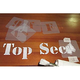 Letters Stencils Set, font sizes 40mm, 50mm, 75mm 100mm (50 mm)