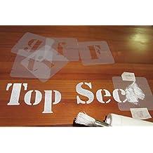Juego de plantillas de letras, tamaños de fuente de 40 mm, 50 mm,