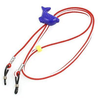 DealMux Verstellbare Gummischlaufe Nylon Neck Cord Brille Retainer Rot Weiß