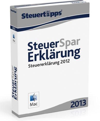 Steuer-Spar-Erklärung 2013 - Mac-Version (für Steuerjahr 2012 / Frustfreie Verpackung)