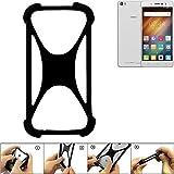 K-S-Trade Handyhülle für Hisense L695 Schutz Hülle Silikon Bumper Cover Case Silikoncase TPU Softcase Schutzhülle Smartphone Stoßschutz, schwarz (1x)