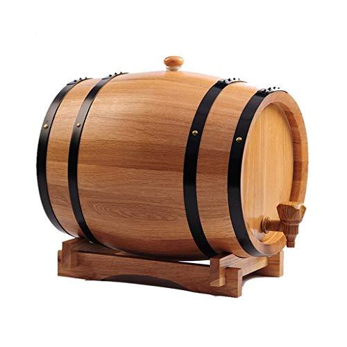 Kylinjtt Eingebauter Alufolienbehälter aus Eichenholz zum Aufbewahren von Whisky, Bier, Wein, Bourbon, Brandy, scharfer Soße und vielem mehr 10 l (Color : Style A, Size : 10L)