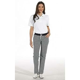 Leiber - Pantaloni da chef Nero  NERO / BIANCO
