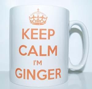 Keep Calm I'm Ginger' Novelty/Joke Printed Tea/Coffee Mug - Ideal Gift/Present * Now Includes Free Sticker *