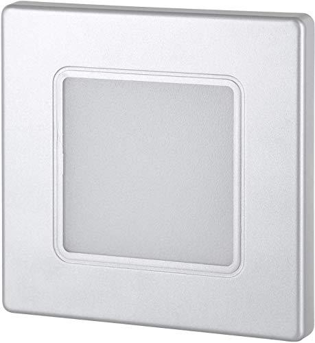 Foco LED empotrable para pared (230 V, cuadrado, para caja de interruptores...