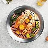 GTC Stainless Steel Gas & Grill PAN- Stove TOP Indoor/Outdoor Smokeless BBQ (IT N - 545) (Orange)