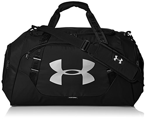 Under Armour Uni UA Undeniable Duffle 3.0 MD SPorttasche, 65 x 30 x 35 cm, Schwarz/Silber Frauen Training Bag