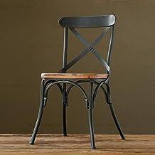 Vintage ferro battuto sedie da pranzo antiche