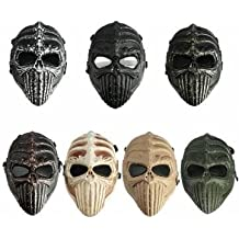 Táctica esqueleto cráneo militar máscara completa para Halloween máscaras del partido del traje