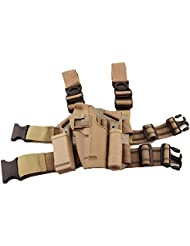 H Welt EU Taktische Airsoft Right Leg Paddel Gürtel Oberschenkel Hand Drop Holster Schwarz für M9 M92