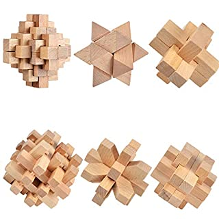 CCDZ Children's Puzzle Luban Lock Solution Ring Solution Lock Wooden Kong Mingsuo Classical Disassembly Adult Traditional Intelligence Toy Set
