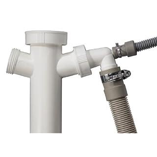 Xavax Ablaufschlauch-Set für Kondenstrockner, 7-teiliges Set bestehend aus 1,5 m Ablaufschlauch, Siphonanschluss, Schlauchschellen, Rückschlagventil