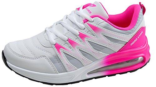 gibra - Zapatillas de Material Sintético para mujer, color Rojo, talla 38