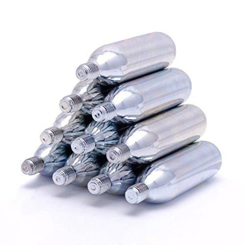 10 Stück CO2-Kartuschen (16g) mit Gewinde – Als Einmal-Kapseln kompatibel zu den meisten Kartuschenpumpen für Fahrräder
