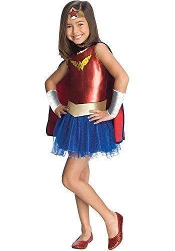filles Wonder Woman Super Héros Livre jour semaine Halloween déguisement costume tenue - rouge / Bleu, 3-4 Years
