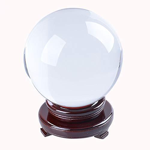 GYXYSJ 130mm Fotografie Kristall Ornament Weissagung Quarz Magic Ball Handwerk Klar Große K9 Glas Kugel Dekoration Kugel