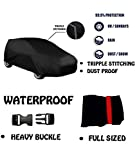 #10: Fabtec Original Waterproof Triple Stitched Black / Grey Light Weight Car Body Cover For Maruti Ignis (Tirpal) (Colour May Vary)