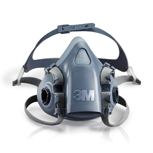 3M Atemschutzmaske Halbmaske 7501 Gas Maske Silikon