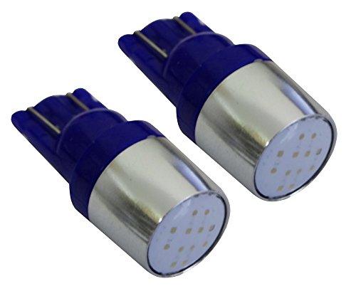 AERZETIX: 2X Ampoule T10 W5W 12V COB LED Bleu veilleuses éclairage intérieur seuils de Porte plafonnier Pieds Lecteur de Carte Coffre Compartiment Moteur Plaque d'immatriculation minéralogique