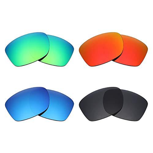 Mryok polarisierte Ersatzgläser für Oakley Jupiter Squared Sonnenbrille - Stealth Black/Fire Red/Ice Blue/Emerald Green