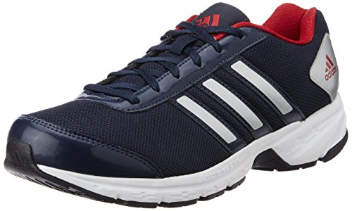 adidas Men's Adisonic M Dark Blue, Silver and Red Running Shoes - 6 UK /India (39.33 EU)