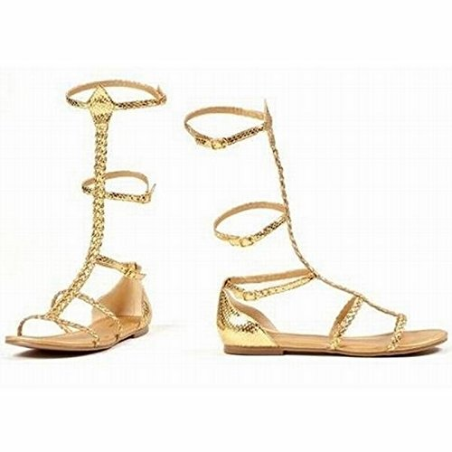 Ellie Shoes E015-CAIRO-10 Gr--e 10 Damen -gyptischen und griechischen Gold-Sandalen