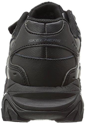 Skechers Sport ¨ Afterburn Grève Memory Foam Sneaker Crochet Et Boucle Noir - Noir / Noir