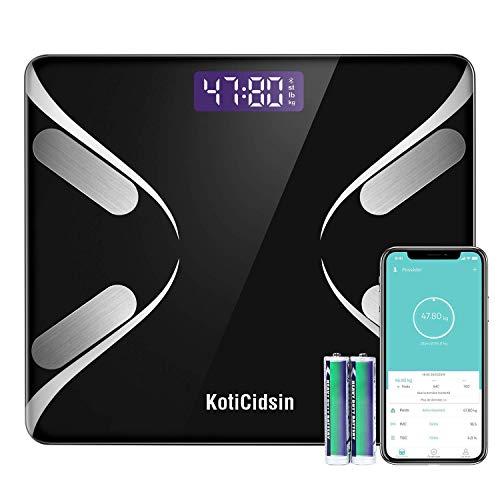 KotiCidsin Pèse Personne Impédancemètre,Balance Impedancemetre avec 13 Données Corporelles (BMI/BFR/Muscle/Eau/Graisse Corporelle/Masse osseuse/BMR etc), Balance Impedancemetre, No
