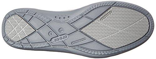 Mocassino in pelle Crocs Walu Shimmer Light Grey/Charcoal