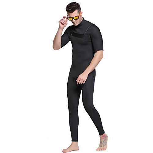 inteilige Neopren Neoprenanzüge Tauchen Schwimmen Surfen Anzüge Warme Volle Badeanzug Nassanzug (Kurzarm, Large/Bust 37.8'') ()