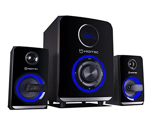 HIDITEC H500-Sound-System 2.1Lautsprecher (Bluetooth 4.1, USB, SD, 50W RMS, Line-In) H500 Bluetooth