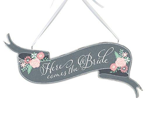 Lillian Rose hier kommt die Braut Banner Schild, 40,6x 23,5cm (Die Hier Kommt Braut)