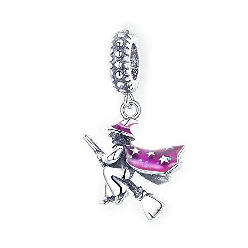 m Besen 925 Sterling Silber Charms DIY Baumeln Anhänger Perlen für Armbänder oder Halsketten Geschenk für Mädchen Frauen,Geschenk für Mädchen Frauen,Geschenktasche,Nickelfrei ()