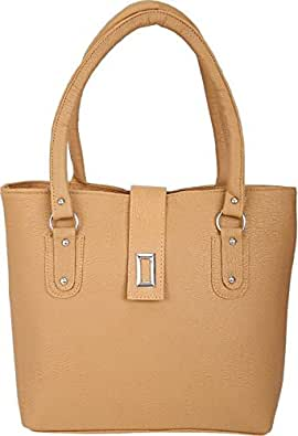 3c729408e9b17 Image Unavailable. Image not available for. Colour  SARA PU BEIGE HAND BAG  FOR WOMEN
